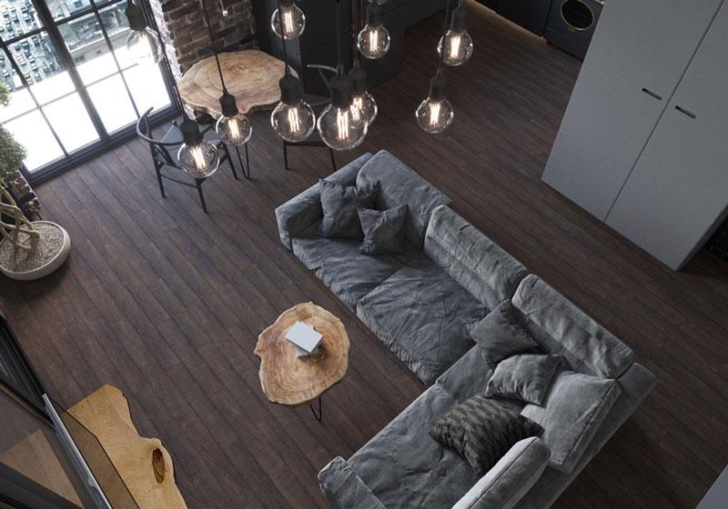 طراحی داخلی با تم قهوه ای