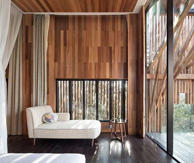 خانه درختی M با سقفی معکوس