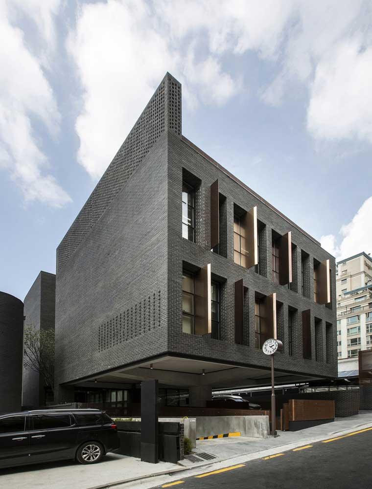 نمای ساختمان آجری