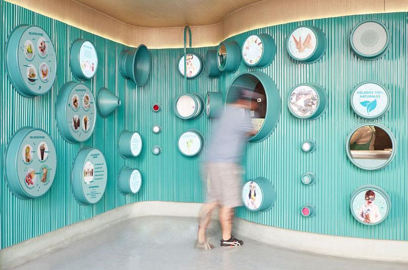 تعاملات در معماری داخلی بستنی فروشی