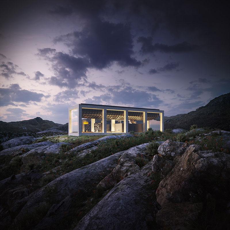 معماری ویلایی در نروژ با استخر روی بام