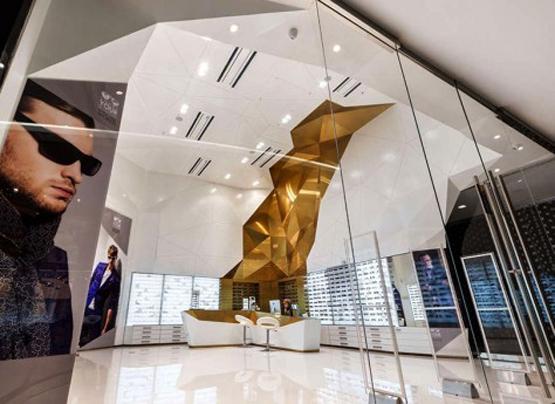 طراحی داخلی فروشگاه عینک سام اپتیک