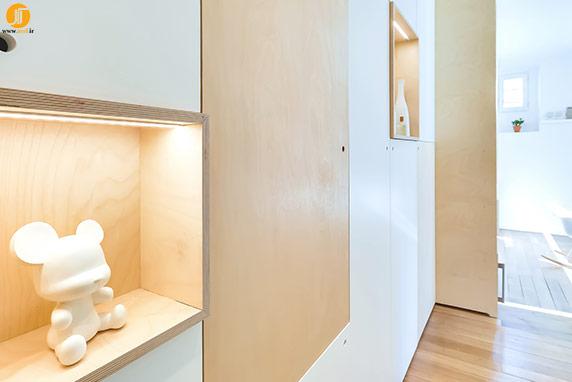 مقطع داخلی آپارتمان 30 متری مینیمال