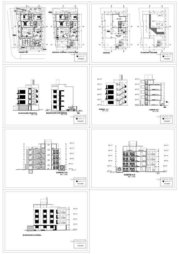 پلان مجتمع مسکونی ، پلان مسکونی ، پلان آپارتمان های چند واحدی