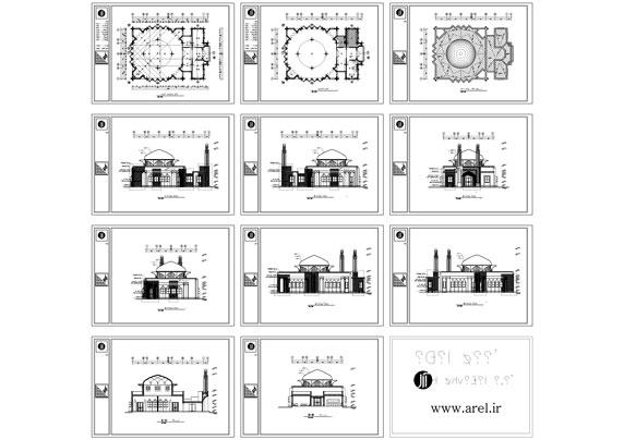پلان مجسد ، پلان چلیپایی ، پلان مسجد سنتی ، پلان مسجد به سبک ایرانی