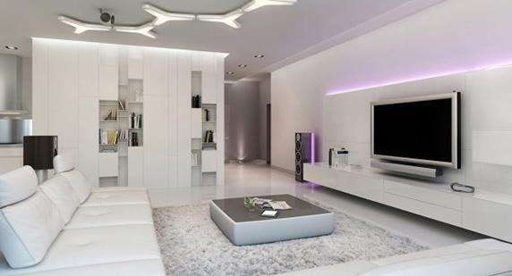 طراحی داخلی آپارتمان، نورپردازی ویژه در طراحی داخلی