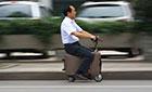 خلاقیت مرد چینی در ساخت موتور با چمدان
