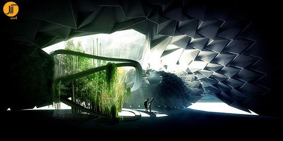 طراحی باغ مرکزی-پناهگاه تنفسی