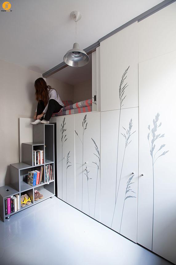 طراحی آپارتمان کوچک در 8 متر مربع