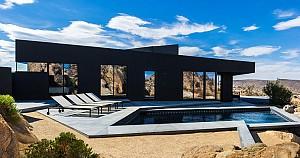 خانه صحرایی با نمای مشکی رنگ!