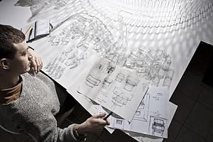 طراحی لوستر  شفافLEGO توسط Tobias tostesen
