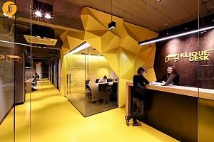 طراحی داخلی دفتر کار Kliquedesk