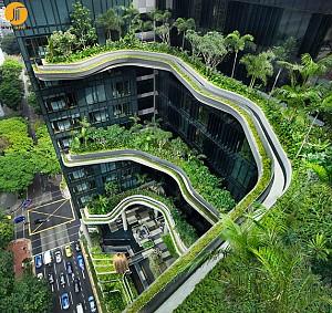 طراحی هتل،در ادغام با باغ معلق
