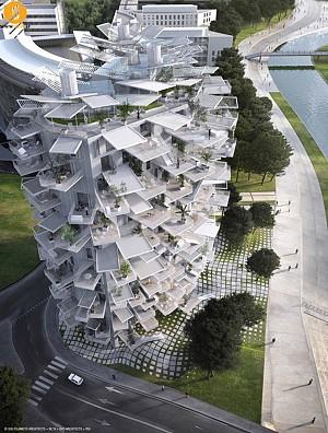 برج چند منظوره  درخت سفید در