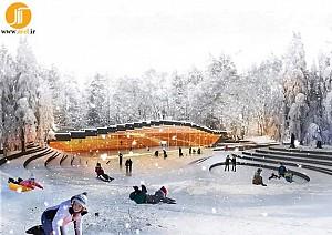 طراحی پیست اسکیت یخ در سوئیس