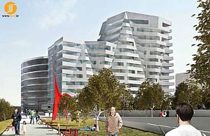 شکل گیری برج مسکونی در مجاورت باغ تندیس های المپیک