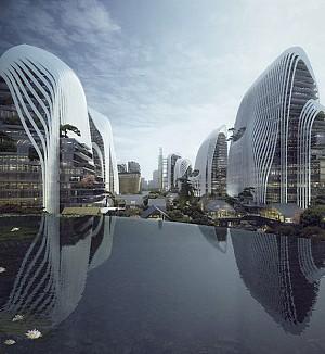معماری طرح مرکز هیمالیایی nanjing zendai  توسط گروه معماری MAD در دوسالانه ی ونیز 2014