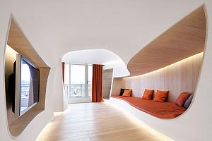 طراحی داخلی آپارتمان زمستانی توسط Penda  در چین