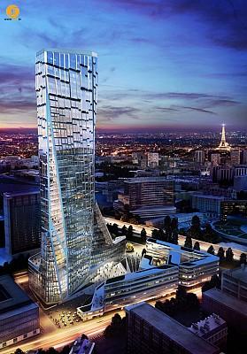 برج بیوکلماتیک،آسمانخراش لوکس برای شهر پاریس