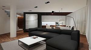 طراحی داخلی آپارتمان دو طبقه با نام Angle 40
