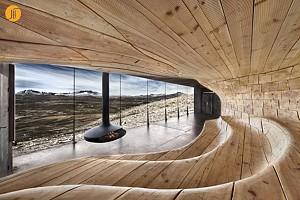 سالن نمایشگاهی مرکزگوزن وحشی شمالی نروژ/اسنوهتا