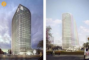 معماری برج بانک