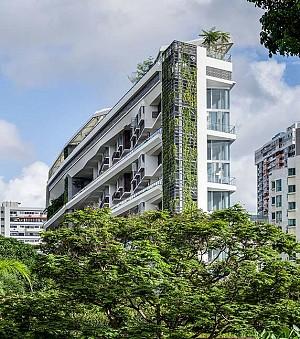 معماری ساختمان Jardin، باغی در آسمان، در خاک سنگاپور