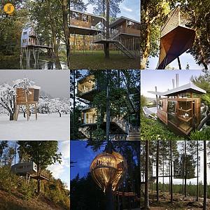 9 خانه درختی خیره کننده که کودک درون شما را بیدار می کنند