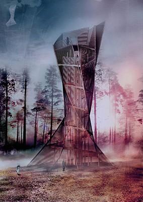 معماری برج چوبی در ایتالیا