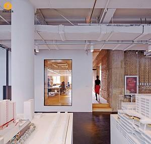طراحی داخلی دفتر کار شرکت معماری Spark