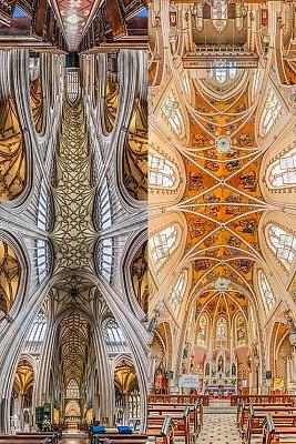 تصاویری تماشایی و چشم انداز متفاوت از کلیسا