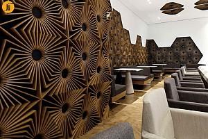 طراحی کافه رستوران به وسیله عناصر هندسی