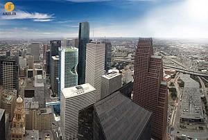 نفوذ آسمانخراش ها به فضای شهری  Houston
