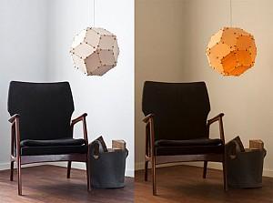 طراحی خلاقانه لامپ، لامپی با پوسته ی چوب