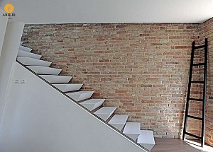 طراحی جزئی: راه پله با استفاده از متریال corian