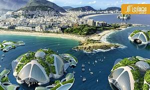 معماری کانسپچوآل: طراحی دهکده های شناور بر روی اقیانوس ها با استفاده از پرینت لیزری