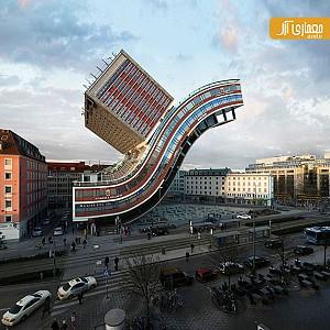 طراحی شهر با معماری و ساختمان های ساختار شکن