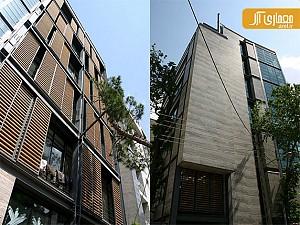 معماری و طراحی ساختمان اداری یخچال توسط فرامرز شریفی