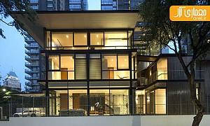 طراحی باغ عمودی و بام سبز برای ساختمانی مسکونی در سنگاپور