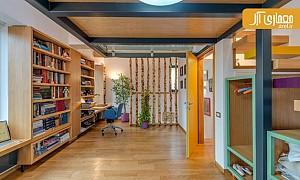 طراحی داخلی: ایده ای جالب برای استفاده از اتاق زیرشیروانی