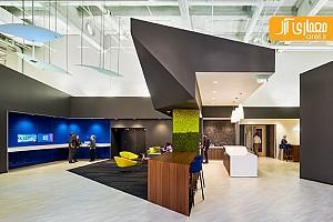 طراحی داخلی دفتر کار شرکت مایکروسافت در سانفرانسیسکو