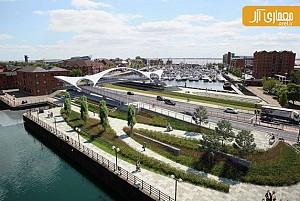 معماری و طراحی پل عابرپیاده ی  Prince Quay