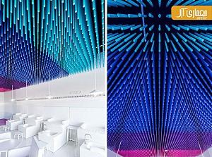 طراحی جزئی: استفاده از آویزهای چوبی رنگارنگ در سقف