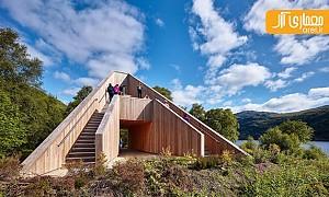 طراحی سکوی دیدبانی هرمی در یکی از پارکهای طبیعی اسکاتلند