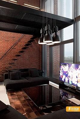 طراحی داخلی 4 آپارتمان با متریال آجر
