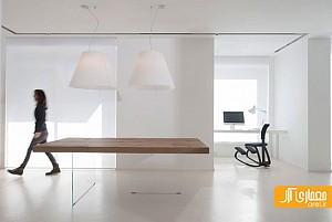 طراحی داخلی آپارتمان مینیمال، روشن و سفید