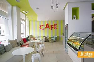 طراحی داخلی کافه بار Moire - استفاده از رنگ های خاص