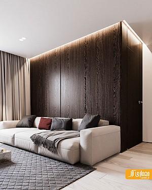 طراحی داخلی خانه ای آرام و ساده برای یک خانواده