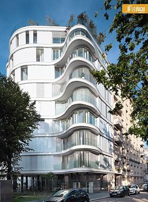 معماری آپارتمان با دیوار های منحنی
