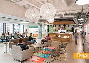 طراحی داخلی دفتر شرکت Instacart